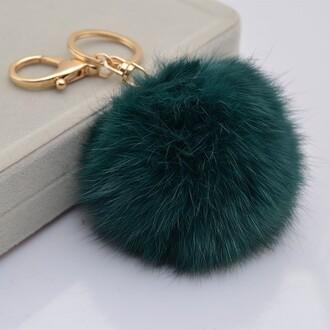 bag keychain pompom glamour classy faux fur fur keychain