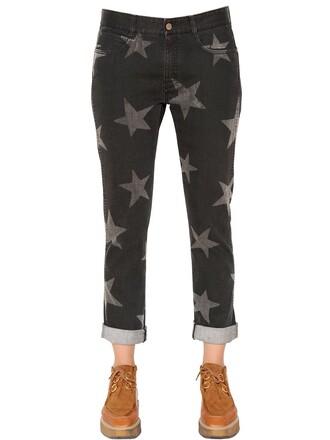 jeans denim boyfriend print black grey