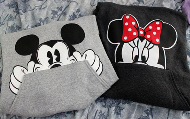 sweater minnie mouse mickey mouse hoodie clothes bows girl edit tags