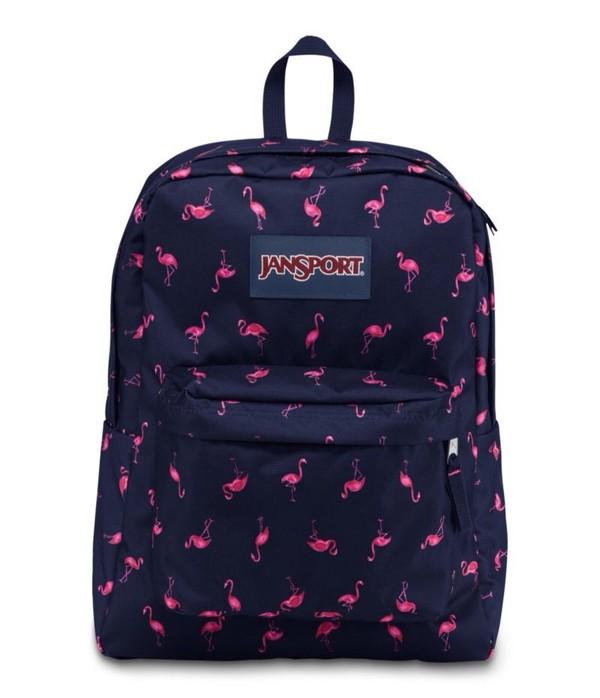 e43e138e04ce JanSport Superbreak Backpack - Navy Pink Flamingo - Rushfaster.com .