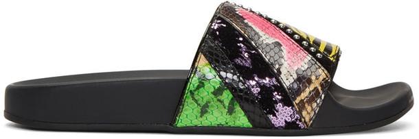 Marc Jacobs patchwork punk multicolor shoes