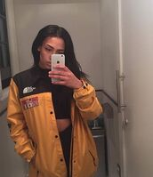jacket,winter outfits,coat,trench coat,autumn/winter,autumn winter coat,fall outfits,fall coat,yellow,black,vintage,old school,fashion,style,north face,bomber jacket,tumblr,tumblr girl,windbreaker,rain jacket,cute,trendy,2015 new trends,urban,women,iphone 6 case,iphone,high waisted jeans,button up,tommy hilfiger