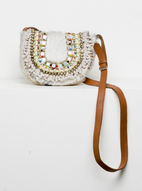 bag boho chic hippie beaded cross body bag