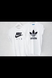 t-shirt,nike air,adidas,oversized,white top,white t-shirt,menswear,mens t-shirt,style,swag,nike,black,white,sportswear,cool