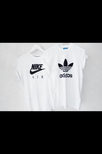 t-shirt nike air adidas oversized white top white t-shirt menswear mens t-shirt style swag