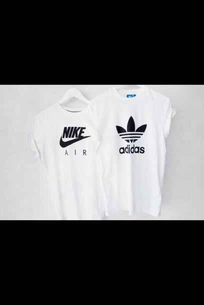 black and white nike top