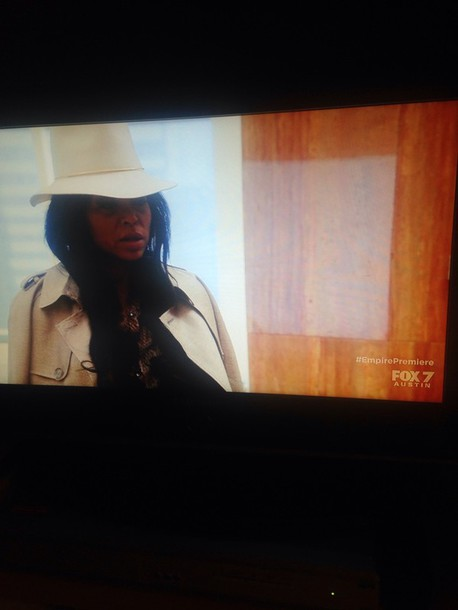 hat taraji p. henson white fedora fashion