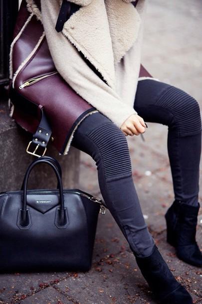 coat coat leathe burgundy cardigan burgundy jacket
