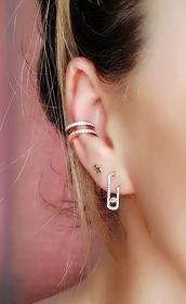 jewels,asos claw ear cuff,ear cuff,earrings,boucles d'oreilles,boucles,collier,rose gold,boho,coachella,festival,bridesmaid