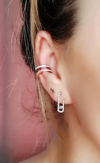 jewels asos claw ear cuff ear cuff earrings boucles d'oreilles boucles collier rose gold boho coachella festival bridesmaid