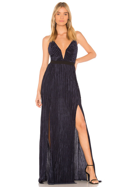 Stylestalker dress maxi dress maxi blue