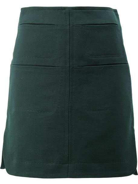 skirt women cotton green