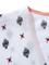 White geometric pattern vintage kimono coat
