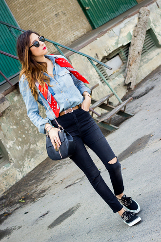 shoes and basics blogger shirt jeans bag shoes