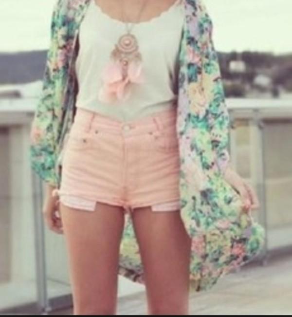 jacket shorts jewels shirt
