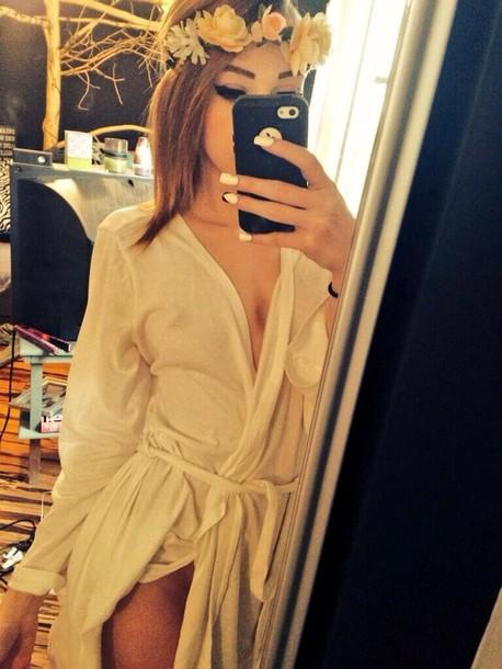 dress white dress white robe