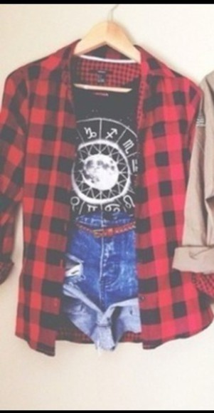 flannel shirt red luke hemmings