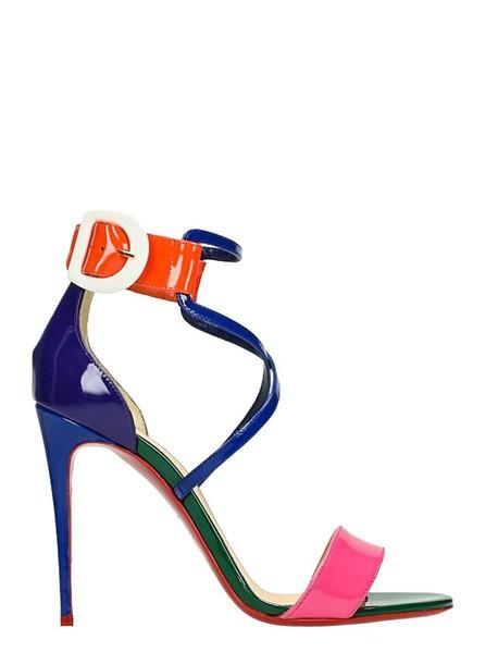 christian louboutin 100 sandals multicolor shoes