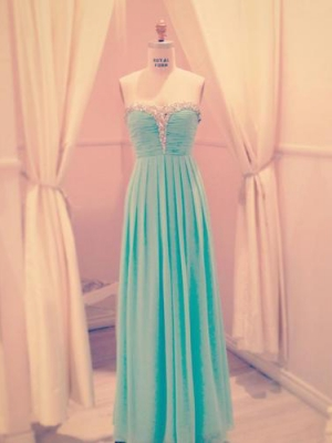 Buy Fabulous A-line Sweetheart Floor Length Prom Dress with Beadings under 200-SinoAnt.com