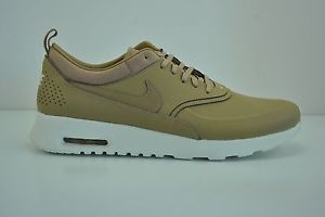 new images of outlet store hot sale New Womens Nike Air Max Thea PRM Size 12 Tan White Desert ...