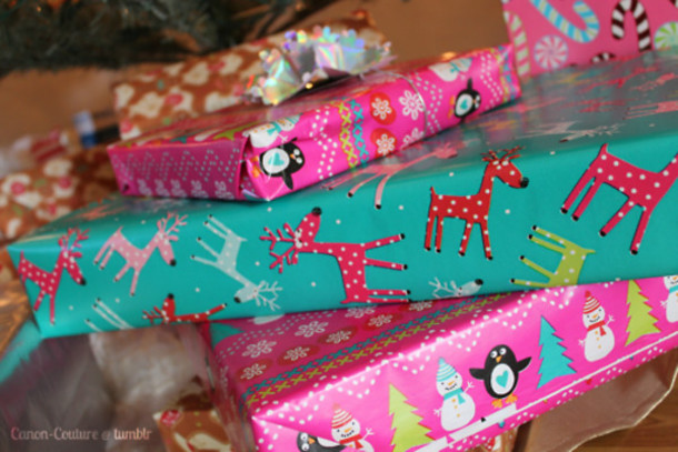 underwear wrapping paper deer undefined blue pink christmas penguin wheretoget - Pink Christmas Wrapping Paper