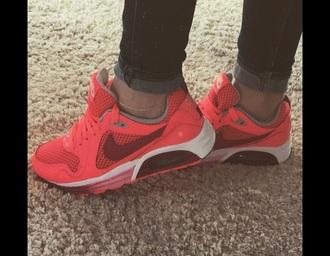 shoes pink burgundy white nike air max soleonfire