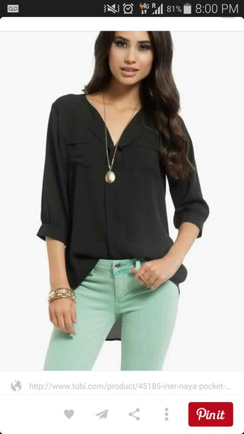 blouse black blouse