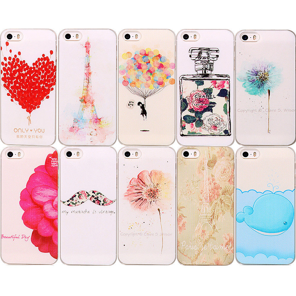 Cute Lovely Pattern Painted Phone Hard Back Skin Case Cover for iPhone 5 5S | eBay