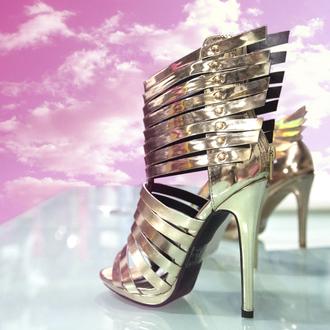 shoes wild rose zooshoo zooshoo shoes zooshoo heels gold heels metallic heels statement heels isabella sandal open toed heels sandal heels woven sandal heel