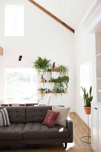 home accessory tumblr home decor furniture home furniture sofa pillow plants living room