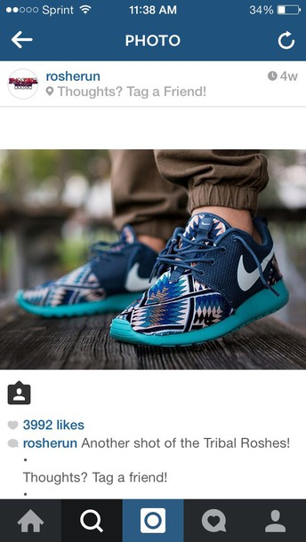 shoes tribal roshe runs