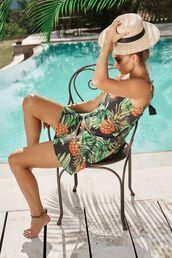 dress,pineapple print,summer dress,bikiniluxe