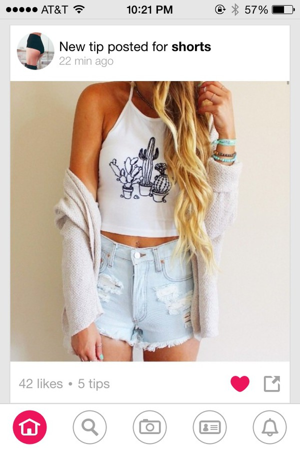 white tank top cactus print crop tops