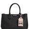 K saffiano leather tote w/ choupette tag