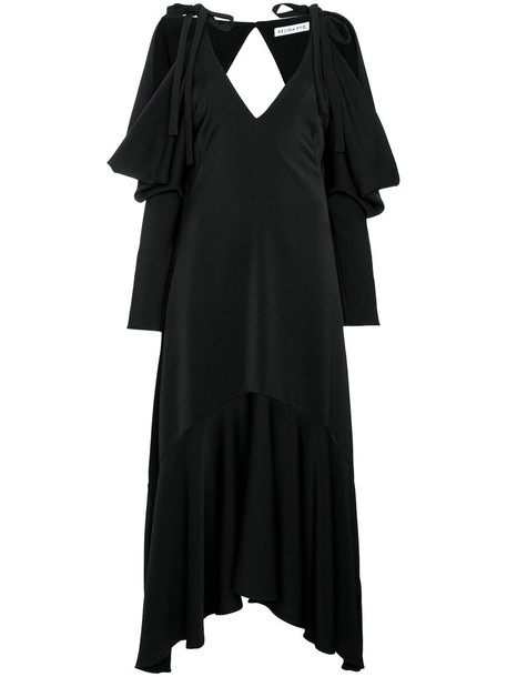 dress open women black
