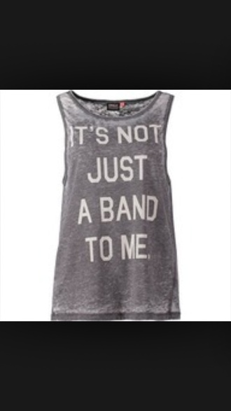 tank top band t-shirt it's not just a band gray tank top