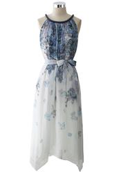 dress,beaded,collar,watercolor,print,chiffon,midi