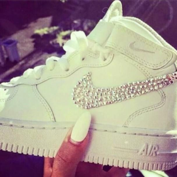 shoes diamonds nike air