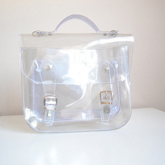 bag satchel crossbody clear indie