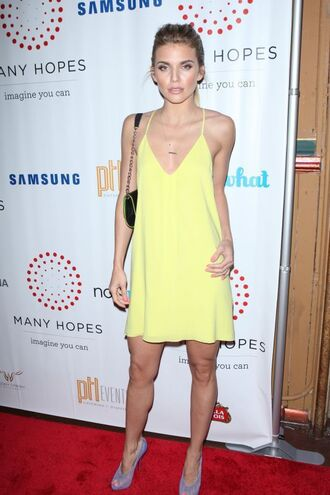 dress summer summer dress yellow yellow dress annalynne mccord