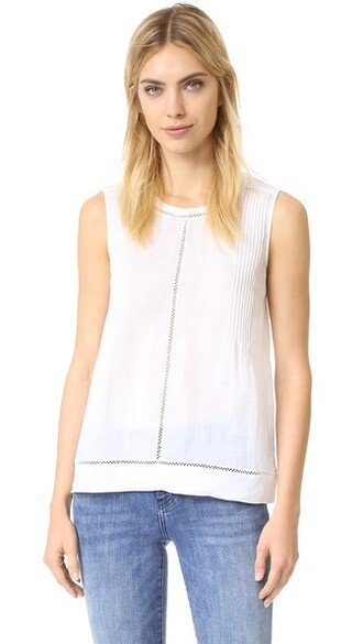 top shell lace white