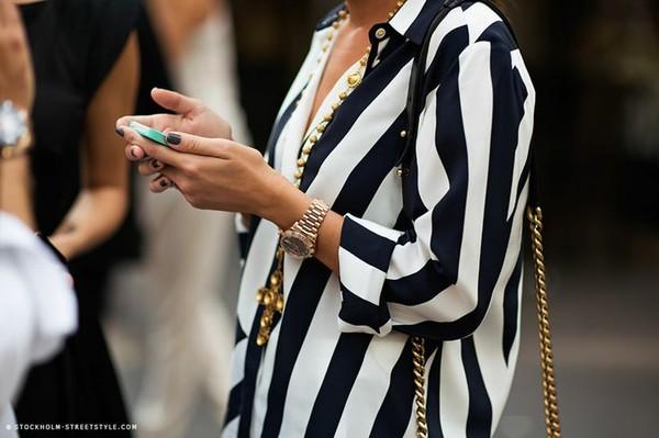 blouse stripped blouse stripe top ici fashion icifashion striped shirt