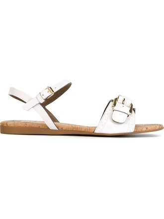 sandals flat sandals white shoes