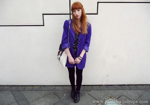 purple jacket pastel raindrops jacket