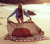 scarf,beach,boho,blanket,summer,hippie