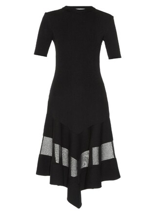 dress short sheer black