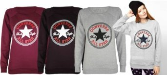 converse all star print sweatshirt jumper top 8 14 amazon. Black Bedroom Furniture Sets. Home Design Ideas