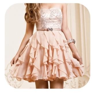 dress ribbon prom dress beige lace dress