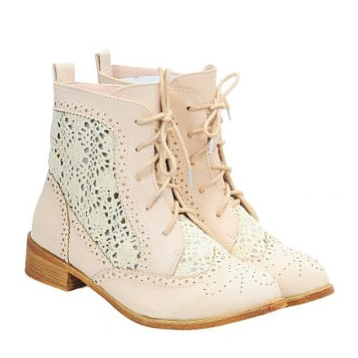 Amazon.com: Vintage Crochet Sweet Round Toe Lace Up Ankle Boots for Women: Shoes