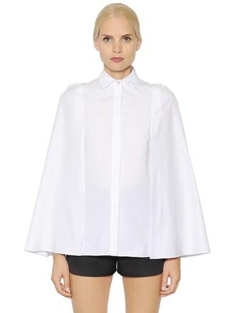 shirt cape cotton white top